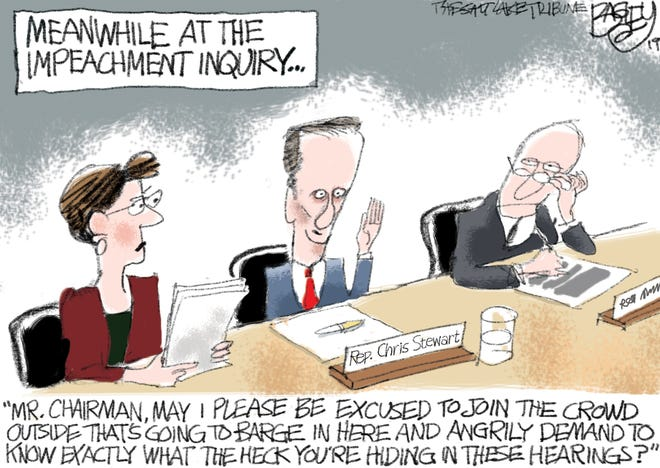 Impeachment meeting disrupted.