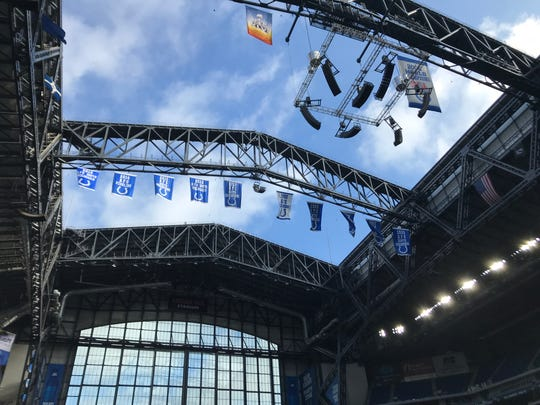 The Lucas Oil Stadium roof was open, and the window closed, for Sunday's game against the Denver Broncos on Oct. 27.