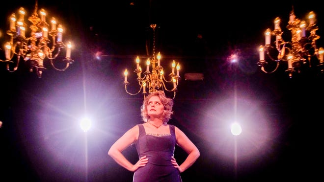 "Megan Gogerty performing her most recent one-woman show ""FEAST."" at Riverside Theatre."