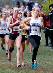 Chillicothe's Laikin Tarlton runs in the Division I Regional Cross Country meet Saturday, Oct. 26, 2019, at Pickerington North High School in Pickerington.