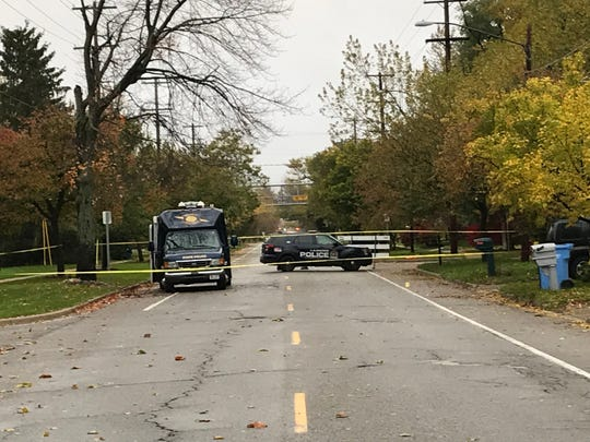 Police were on the scene Sunday morning after an overnight shooting on Miller Road in south Lansing.