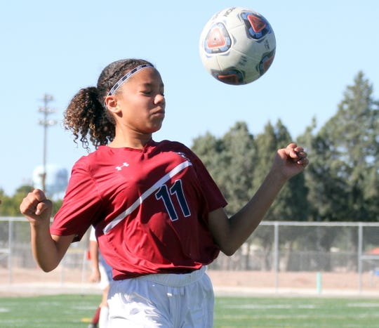 Eighth grader Persephone Martin represents the future of Deming High girls' soccer.