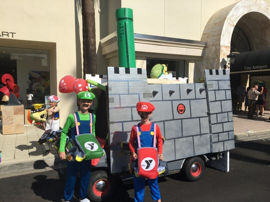 "The Family YMCA of the Desert used a Super Mario Bros. theme for their entry into the Palm Desert Golf Cart Parade on Sunday, Oct. 27, 2019. The parade's theme was ""Let the good times roll."""