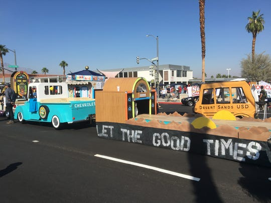 "The city of Palm Desert created a 1950s-era bowling alley for the Palm Desert Golf Cart Parade on Sunday, Oct. 27, 2019. The parade's theme was ""Let the good times roll."""