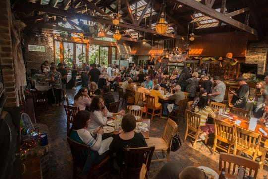 Ghost hunting fans gather for brunch Sunday, October 27, 2019 during the Spooktacular Paranormal Investigation and Ghost Hunting at Seville Quarter.