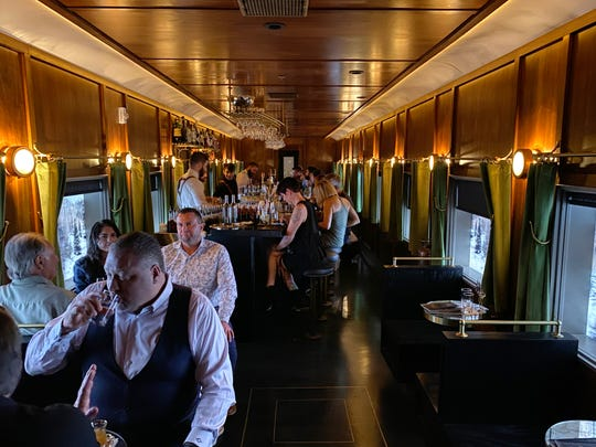 Platform 18, one of the bars at Century Grand in Phoenix, is designed to mimic a Pullman train car.