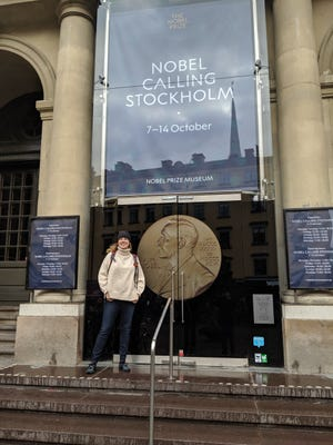 Heidi Hisrich attended the Nobel Prize Teacher Summit in Stockholm, Sweden on Friday, Oct. 11, 2019.