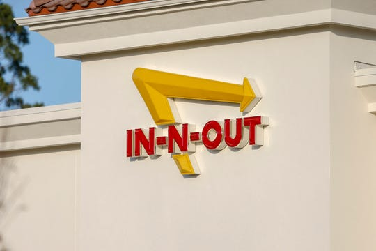 The famous In-N-Out Burger signage has been installed at their newest location in Keizer Station, October 26.