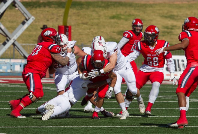 Chadron State football defeats Dixie State 40-27 Saturday, Oct. 26, 2019.