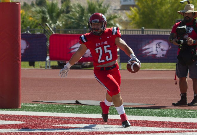 RB Sei-J Lauago scored on an 81-yard touchdown run against Colorado Mesa Saturday.