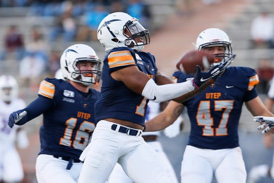 UTEP's Kavika Johnson during the game against Louisiana Tech Saturday, Oct. 26, at the Sun Bowl in El Paso.