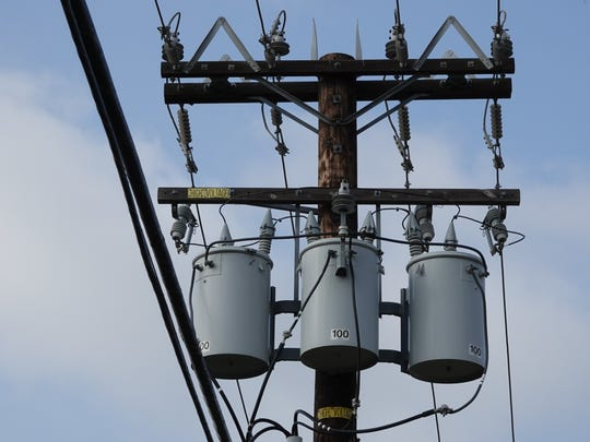 High-voltage equipment on utility poles in Camarillo.
