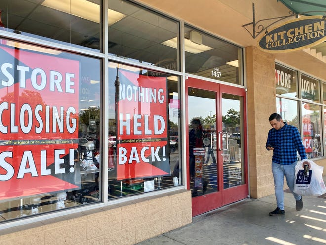 The closures include the location in Tulare Outlet Center, where Kitchen Collection has been for a decade-plus.