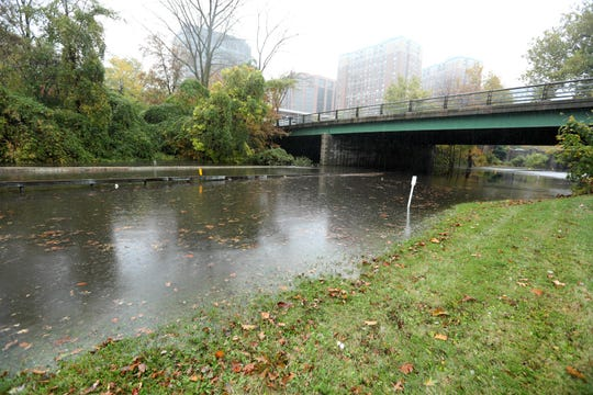 The Bronx River Parkway was closed due to flooding in White Plains as rains continued through the afternoon Oct. 27, 2019. The Saw Mill Parkway and the Hutchinson River Parkway had partial closures due to flooding.