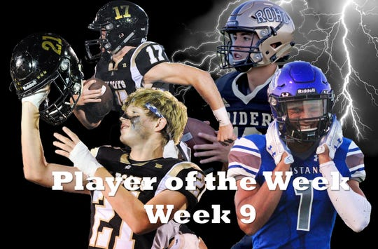 Nominees for Player of the Week are Archer City's Layne Briggs and Ty Bates, Rider's Jacob Rodriguez, City View's Jayln Marks and Hirschi''s Ritse Vaes (not pictured).
