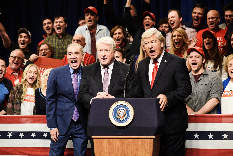 SNL': Alec Baldwin's Trump rally mocks Bill Clinton, Mark Zuckerberg