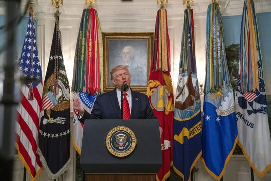 President Donald Trump announces on Oct. 27, 2019, that Islamic State leader Bakr al-Baghdadi died in a U.S. military raid in northern Syria.
