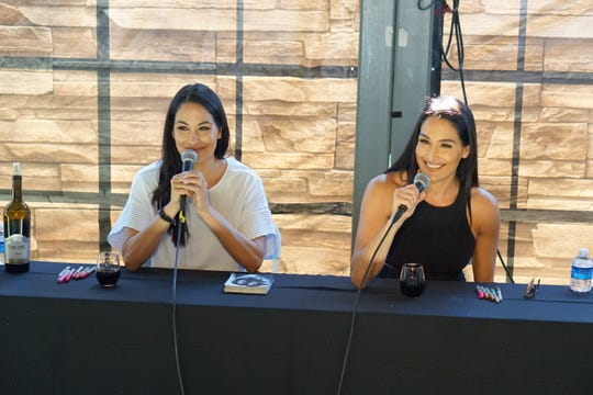 The Bella Twins of reality TV and professional wrestling fame hosted a meet-and-greet to promote their new Napa Valley wine, Belle Radici, at the USA TODAY Wine & Food Experience in Las Vegas on Oct. 26, 2019.