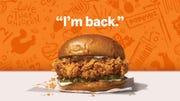 Popeyes Louisiana Kitchen's chicken sandwich returns to restaurants Nov. 3, which is National Sandwich Day.