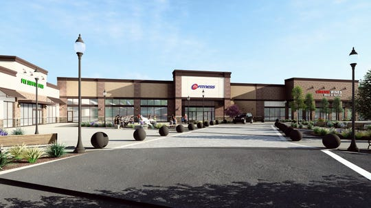 A rendering of 24 Hour Fitness at The Shoppes at Middletown.