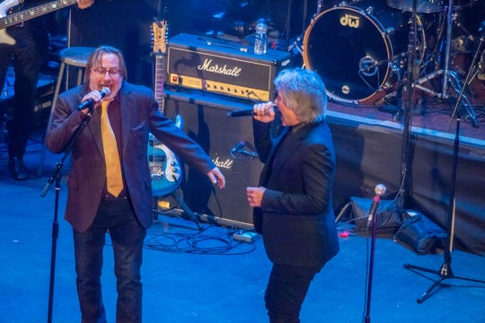 Soutside Johnny and Jon Bon Jovi NJ Hall of Fame ceremonies at the Paramount Theatre Asbury Park. Photo James J. Connolly/Correspondent