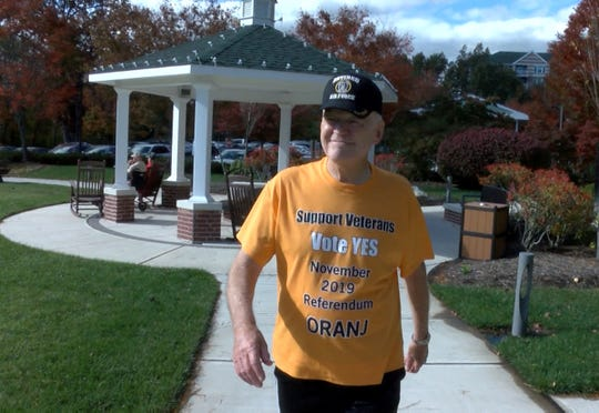 Gary Baldwin is an advocate for expanding a $250 property tax deduction for veterans and make it eligible to those who live in continuing care retirement communities.  He is shown Monday, October 28, 2019, outside his home in Tinton Falls.