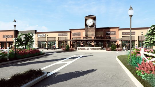 A rendering of the Shoppes at Middletown.