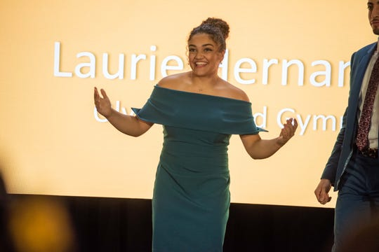 Laurie Hernandez at NJ Hall of Fame ceremonies at the Paramount Theatre Asbury Park. Photo James J. Connolly/Correspondent