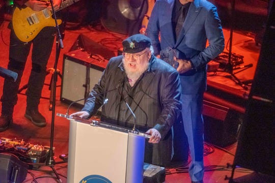 George R.R. Martin   Hall of Fame ceremonies at the Paramount Theatre Asbury Park. Photo James J. Connolly/Correspondent