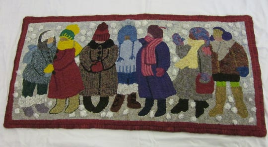 """Winter Girlfriends,"" hooked by Lana Roske, of Vestal, will be featured at the  Biennial Rug Show in Vestal this weekend."