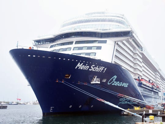 Mein Schiff 1, a TUI Cruises vessel, made its inaugural call at Port Canaveral on Oct. 9.