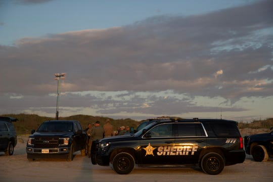 Law enforcement is investigating the discovery of at least one body on a beach near Mile Marker 263 in Kleberg County on Monday, Oct. 28, 2019.