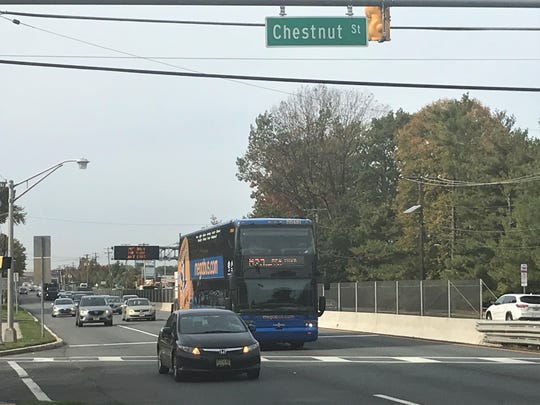 Police are seeking a vehicle that fatally struck a pedestrian crossing Route 38 and Chestnut Street early Friday.
