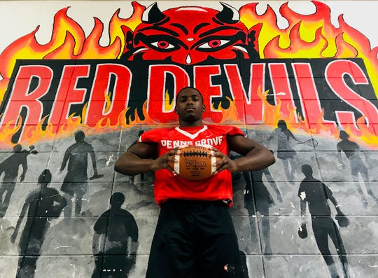 Penns Grove senior linebacker Makhi Scott has recorded more than 100 tackles in three consecutive seasons for the Red Devils.