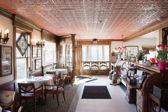 A dining room of the Robin's Nest in Mount Holly is a trip back in time in a township known for its ghosts.