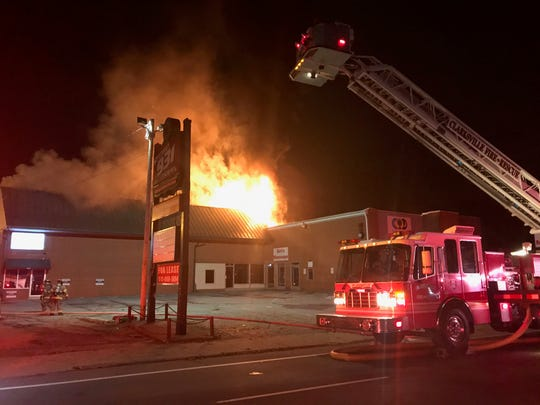 The Studio 931 Photography building, 645 Riverside Drive, caught fire early Monday morning, Oct. 28, 2019.