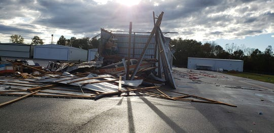 A couple of planes and a hangar at the Clarksville Regional Airport were damaged in the storm on Saturday, Oct. 26, 2019.