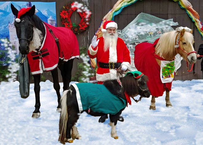 Rick Reilly a.k.a. Santa Rick of Hunterdon, and therapy horses will be available for holiday photos on Saturday, Nov. 9.