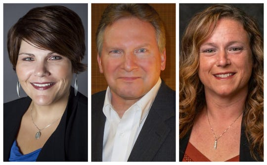 Windsor Heights City Council candidates Threase Harms, Mark Coy and Susan Skeries.