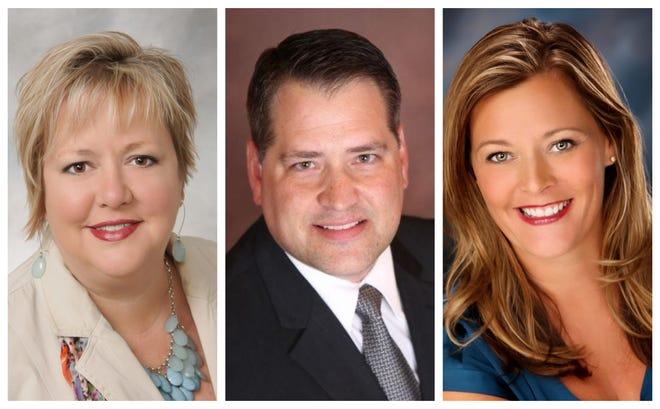 Bondurant City Council candidates Tara Cox, Doug Elrod and Angela McKenzie.