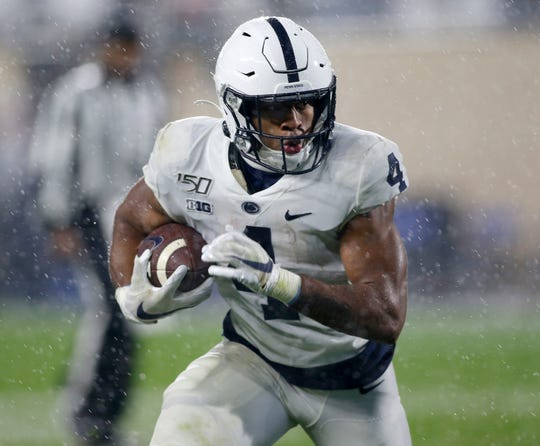 Penn State's offense will look to sustain drives and keep Minnesota's offense off the field. Big efforts will be needed from their four running backs like Journey Brown (4).