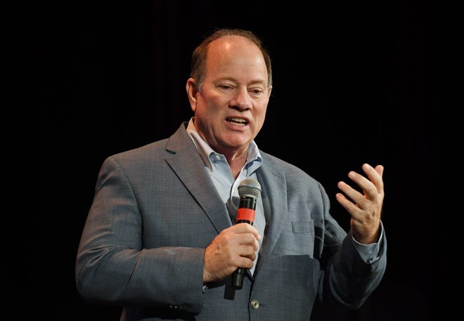 Detroit Mayor Mike Duggan opens Day 2 of the Forbes Under 30 Summit at Masonic Temple in Detroit.