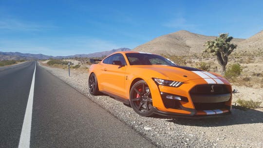 On the desert roads west of Las Vegas, the 2020 Ford Mustang Shelby GT500 had a chance to stretch its legs.