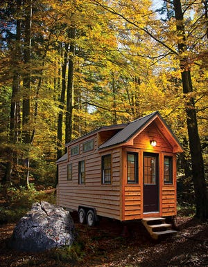Some tiny houses are built on trailers with wheels, and, like a recreational vehicle, can be moved easily to an approved site.