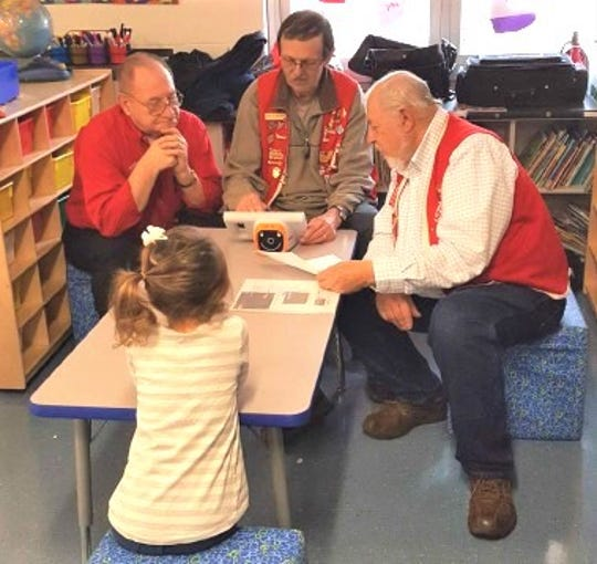 The Marblehead Peninsula Lions Club conducted vision screenings at Danbury Local Schools.