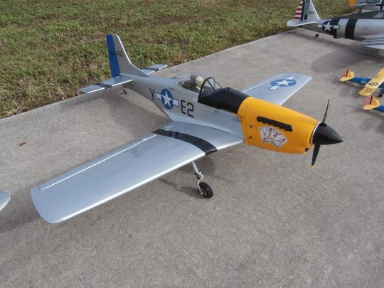One of several pilot-controlled replicas of a P-51 Mustang fighter plane, that was flown when Page Field served as a pilot training base during World War II, that'll take to the skies above Seahawk Park.
