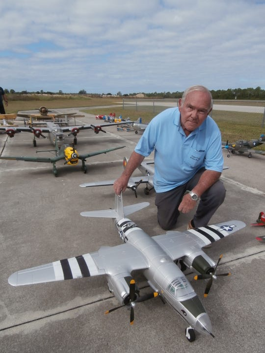Joe Dolliver, vice president of the Cape Coral R/Seahawks Flying Club, will send his B-26 Bomber skyward above Seahawk Park during the annual War Birds Over Cape Coral air show on Nov. 9.