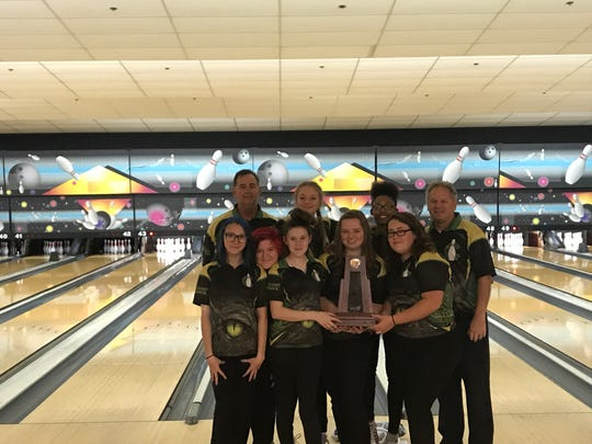Island Coast's girls bowling team defeated Riverdale in the championship match of Monday's District 6 tournament after the Gators took first in the morning conference event at Lightning Strikes Lanes.