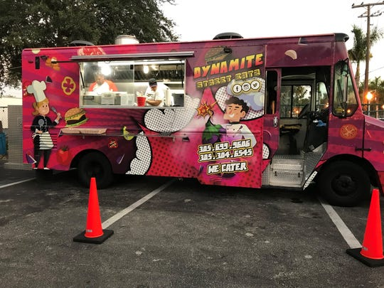 The Dynamite Street Eatz food truck serves at breweries and events throughout Fort Myers and Cape Coral.