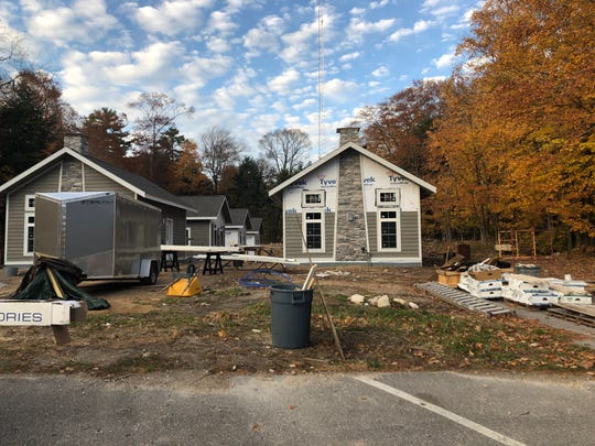 Early construction stages of Four Elements Lodging on Oct. 27, 2019.
